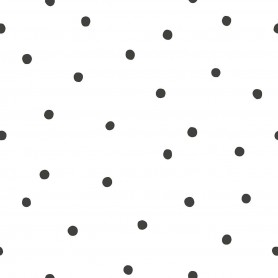 Papier peint pois destructurés - Blanc