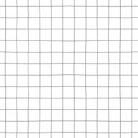 Papier peint quadrillage - Blanc