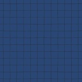 Papier peint quadrillage - Bleu cobalt
