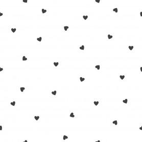 Papier peint motifs coeurs - Blanc