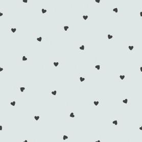 Papier peint motifs coeurs - Iode