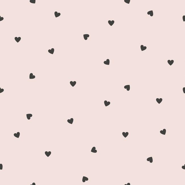 Papier peint motifs coeurs