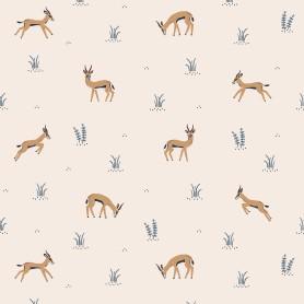 Papier Peint enfant imprimés gazelles