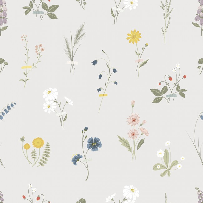 Papier peint fleurs des champs
