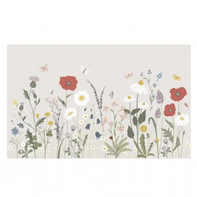 Décor mural fleurs des champs
