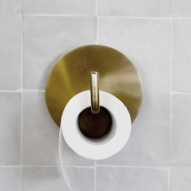 Dérouleur de papier toilette en laiton doré