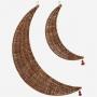 Lune décorative en rotin - Lot de 2