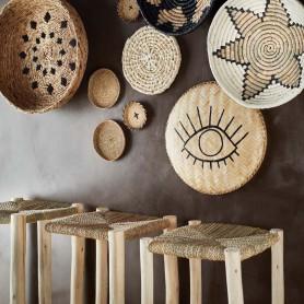 Tabouret de bar marocain en bois