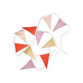 Guirlande de fanions Kids concept - rose