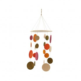 Mobile en bois multicolore - Taupe