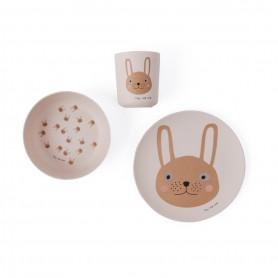 Set de vaisselle enfant en bambou OYOY - Lapin