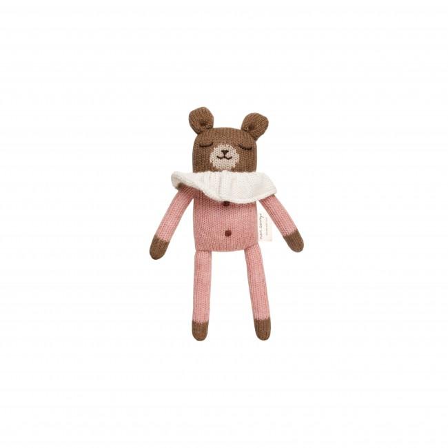 Doudou ourson pyjama Rose Main sauvage