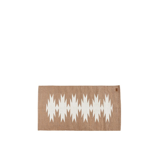 Tapis style Kilim à motif géométrique