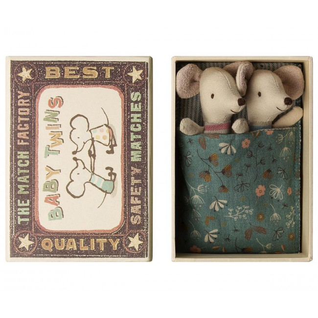 Bébé souris jumeaux en boîte Maileg