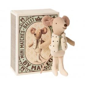 Souris danseur ballet dans sa boîte Maileg