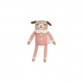 Doudou chien Main Sauvage - rose