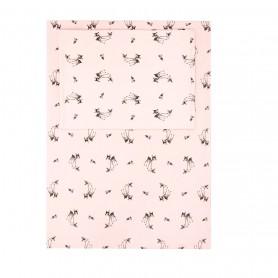 Parure de lit bébé plume biche rose