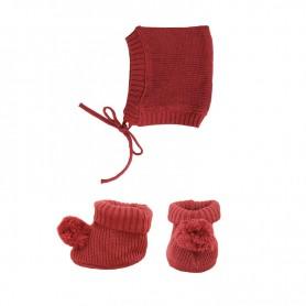 Bonnet et chausson pour poupée Olli Ella - Prune