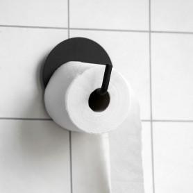 Dérouleur papier toilette en métal noir