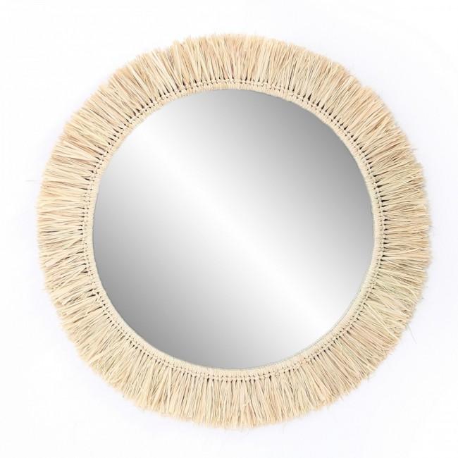 Miroir raphia naturel
