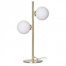 Lampe à poser métal doré 2 globes