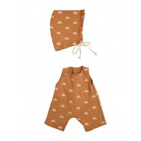 Vêtement pour poupée - Olli Ella - Rolo Romper Set - Fawn