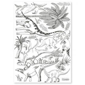Stickers dinosaures et végétaux Lilipinso