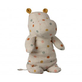 Safari Friends - Maileg - Medium Hippo Multi Dot