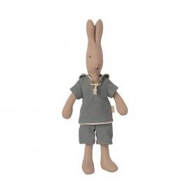 Doudou Lapin Maileg - Rabbit Sailor Dusty Blue - Taille 1