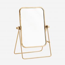 Petit miroir sur pieds cadre doré - Madam Stoltz