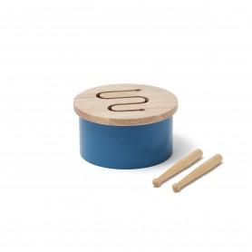 Tambour en bois - Kids Concept - Bleu Indigo
