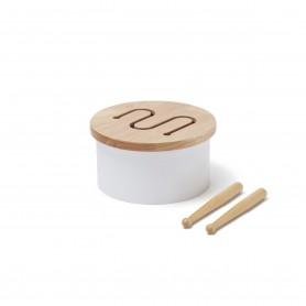 Tambour en bois - Kids Concept - Blanc