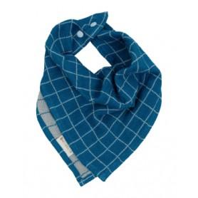 Bavoir triangle coton biologique - Fabelab - Bleu
