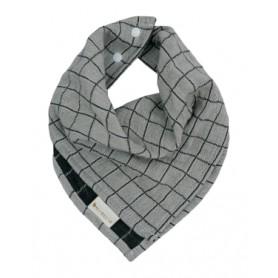Bavoir triangle coton biologique - Fabelab - gris