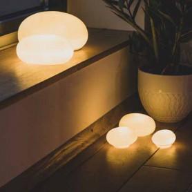 Galets lumineux porcelaine - Set de 3