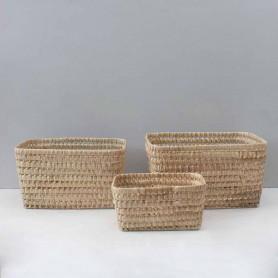 Caisse de rangement en feuille de palmier
