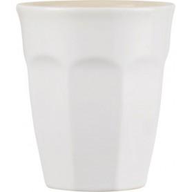 Tasse Cafe Latte Mug en grès - Mynte - Blanc