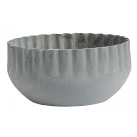 Bougeoir ondulé en métal - IB Laursen - gris  - 1