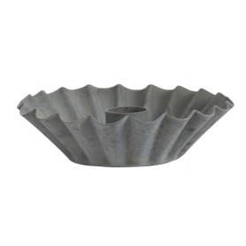 Bougeoir ondulé en métal - IB Laursen - gris  - 2