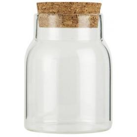 Pots en verre avec bouchon - 1