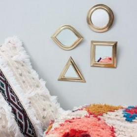 Set de quatre miroirs marocains en laiton doré
