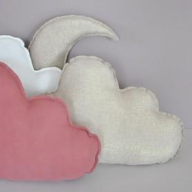Coussin nuage en lin coloris or