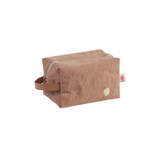 Trousse de toilette cube Iona litchi