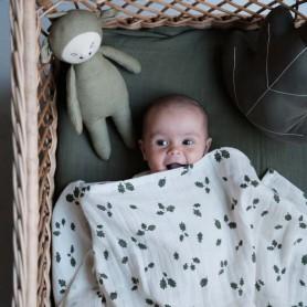 Grand lange bébé Fabelab - set de 2 - Feuilles de chêne