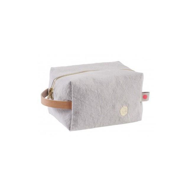 Trousse de toilette cube Iona fleur de sel