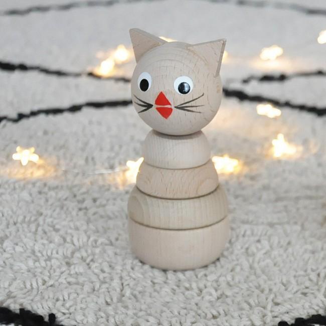 Jouet en bois à empiler - chat