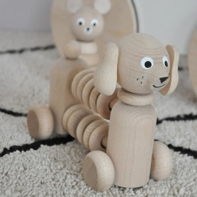 Jouet en bois - chien boulier