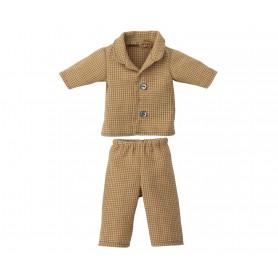 Pyjama pour papa ours Teddy - Maileg - Petits carreaux beige