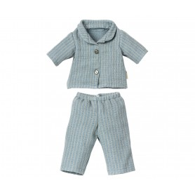 Pyjama pour papa ours Teddy - Maileg - Rayures bleues