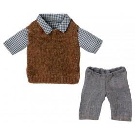Chemise cardigan et pantalon pour papa Teddy
